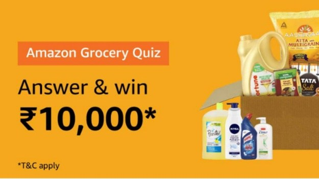 Amazon Grocery Quiz Answers 28 August 2019 Answer And Win Rs